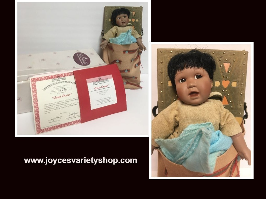 Cloud Chaser Native American Doll Papoose Ashton-Drake Galleries