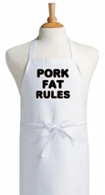 Cooking Apron Pork Fat Rules, Kitchen Aprons With Funny Sayings, Chef Ap... - $9.85