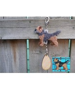 Border Terrier dog crate tag or home decor handmade, hang anywhere, colo... - $14.00