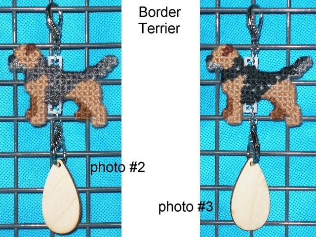 Border Terrier dog crate tag or home decor handmade, hang anywhere, color option