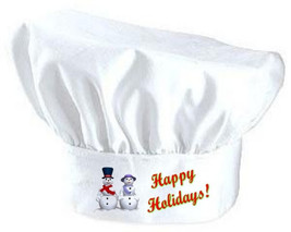 Happy Holidays Toque Hat | Holiday Chef Hats Fo... - $9.85