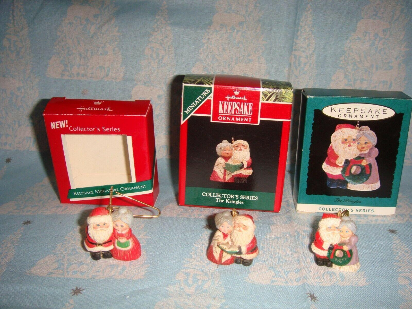 Hallmark Miniature The Kringles 1989, 1992 & 1993 Lot Of 3 Series Ornaments