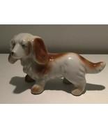 Vintage Cocker Spaniel DOG Figurine Figure Japan Ceramic Brown & White 5... - $18.46