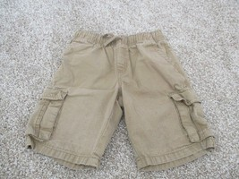 Gymboree 100% cotton cargo pull on boy's shorts, size 7, pre-owned, Khaki/tan - $1.97