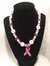 Breast Cancer Awareness Pendant Necklace  - $35.00