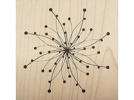 JudiKins Spiral Flower Dots Rubber Stamp #3668G image 1