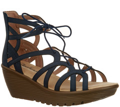 Skechers Lace-Up Wedges - Terrace Navy Size 9 M - $39.59