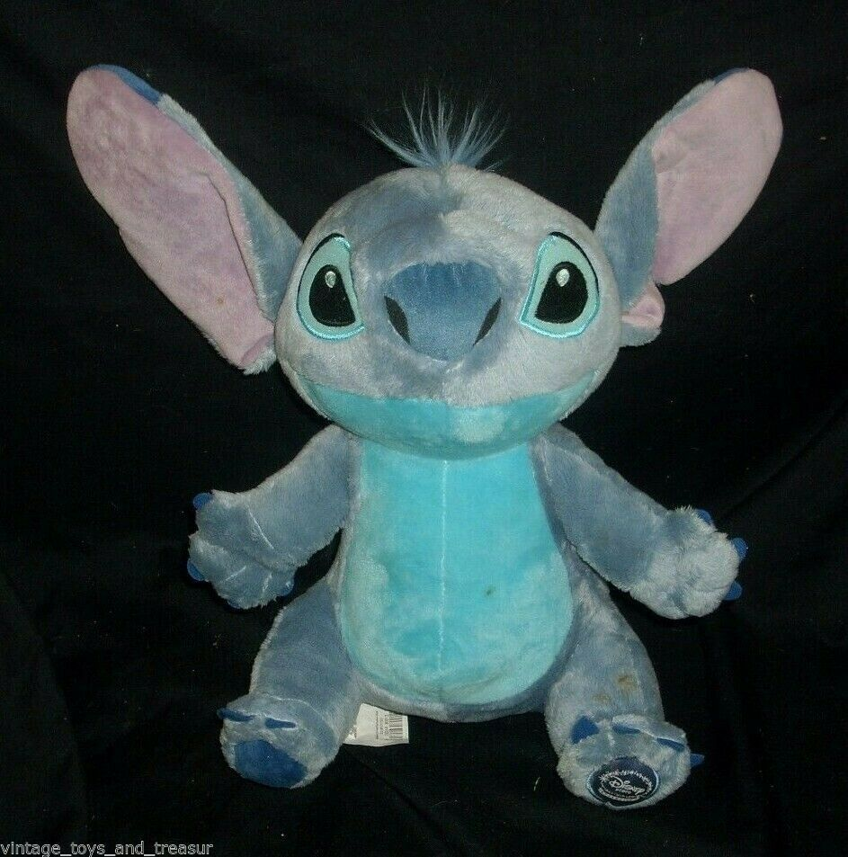 "12"" DISNEY STORE EXCLUSIVE BLUE CORE LILO AND STITCH STUFFED ANIMAL PLUSH TOY"