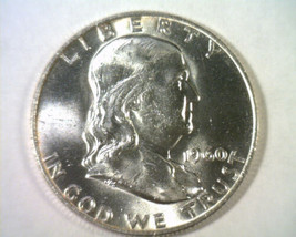 1960-D FRANKLIN HALF CHOICE UNCIRCULATED CH. UNC. NICE ORIGINAL COIN BOB... - $19.00