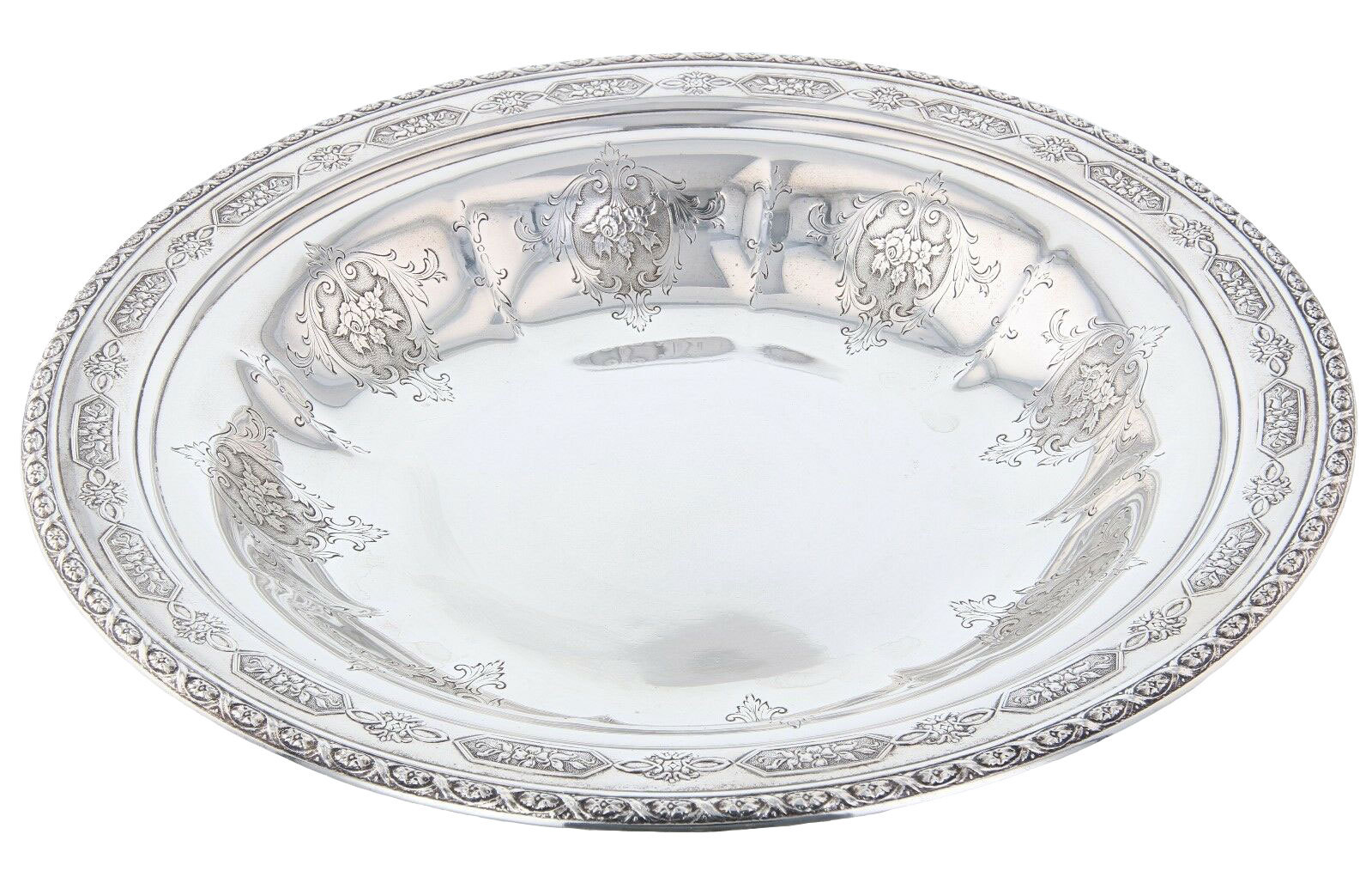 """Towle Large Sterling Bon Bon Bowl Louis XIV Pattern 7-1/2"""" - $248.75"""