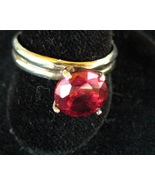 5MM Faceted Garnet Sterling Silver Ring Size 6.5 - $36.00