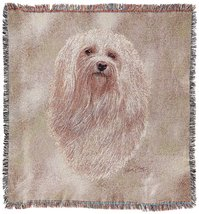 Pure Country 3306-LS Havanese Pet Blanket, Canine on Beige Background, 5... - $47.95