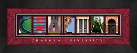 Chapman University Officially Licensed Framed Campus Letter Art - $39.95