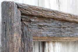 "Post & Beam - Antique Oak Floating 3.5"" Frame -Dark Walnut Finish - Vintage Rust - $41.00"