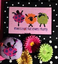 Ewes Fluffy sheep cross stitch chart Amy Bruecken Designs - $7.20