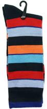 Goldstar Mens Striped Socks Casual Fun Color Combo 6 Cotton Blend Crew Sock - $12.95