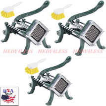 "3SET 1/4"" Green French Fry Cutter / Potato Cutter / Slicer w/ Cleaning B... - $178.15"