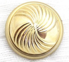Vintage Gold Plated Domed Circle Pinwheel Design Scarf Clip*Dress Accout... - $11.88