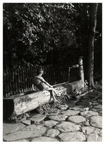 Water Pump WIlliam Tell Chapel Lucerne Luzern Switzerland Vintage B/ W P... - $12.63