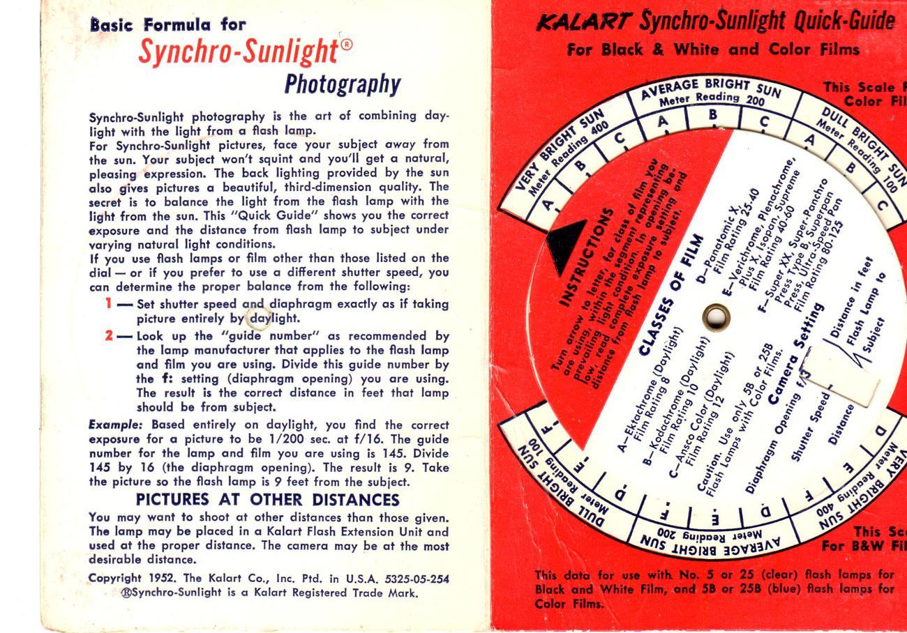 Kolart Co. -Synchro-Sunlight Quick -Guide for Better Daylight Pictures ( 1952)