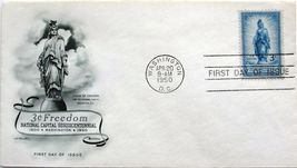 April 20, 1950 First Day of Issue, Artmaster Cover, Freedom Statue #7 - $2.19
