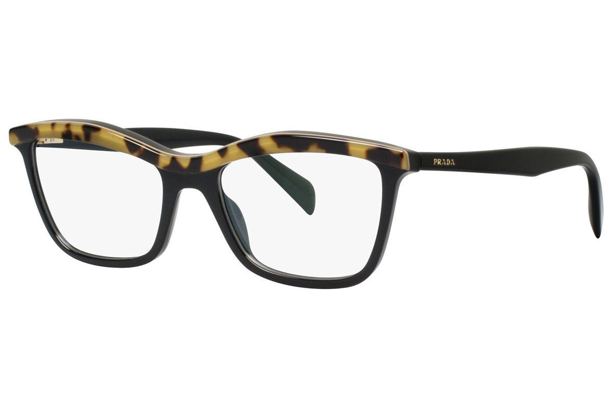 f2ae70f867 S l1600. S l1600. Prada Eyeglasses 17P Top Medium Havana Black MA5-1O1 Optical  Frame PR17PV 54mm