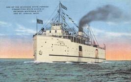 City of Cheboygan Michigan State Ferry Mackinaw City St Ignace linen pos... - $6.44