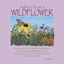 Garden T-shirt Gildan Advice From a Wildflower S M L XXL NWT New Purple Cotton - $20.20