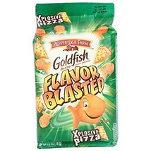 Goldfish Baked Snack Crackers Flavor Blasted Xplosive Pizza 6.6 Ounce - $9.65