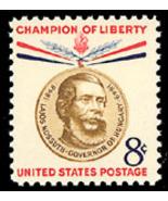 1958 8c Lajos Kossuth, Hungarian Lawyer Scott 1... - $1.24 CAD