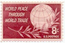 1959 8c World Peace Through World Trade Scott 1129 Mint F/VF NH - $0.99