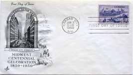 June 3, 1950 First Day of Issue, Art Craft Cover, Kansas City , MO Cente... - $2.19
