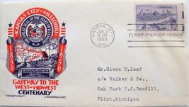 June 3, 1950 First Day of Issue L.W.Staehle Cover, Kansas City  MO Cente... - $2.19