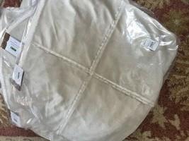 Pottery Barn Faux Fur Shearling Pillow Cover Bisque 18 sq Throw Sofa Neu... - $54.91