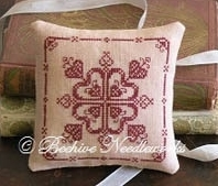 Millicent Hartley Pin Pillow cross stitch chart  Beehive Needleworks - $9.90