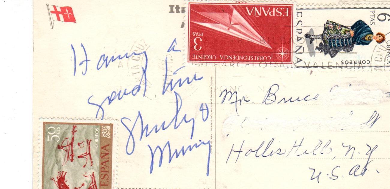 S.S. Raffaello Ship postcard
