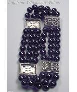 3 Strand Non Magnetic Hematite Fashion Bracelet  - $14.00