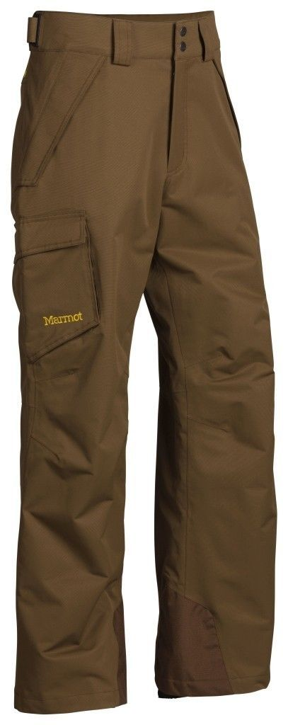 Marmot 70290 Mens Brown Moss Relaxed Fit Ski Snowboard Motion Pants S