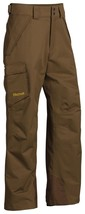 Marmot 70290 Mens Brown Moss Relaxed Fit Ski Snowboard Motion Pants S - $76.49
