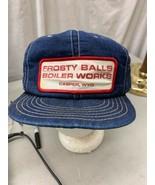 trucker hat baseball cap Snapback Patch Frosty Balls Boiler Work Casper ... - $79.99