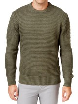 $90 Weatherproof Mens Crewneck Knitted Sweater, Olive Heather, Size M - $29.69