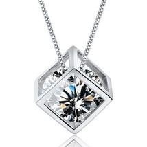New Fashion Romantic Silver 925 Magic Cube Heart & Arrows drop Necklaces & Penda - $10.21