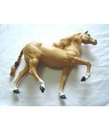 Vintage 1980 Dallas Barbie's Western Golden Palomino Horse  - $14.99