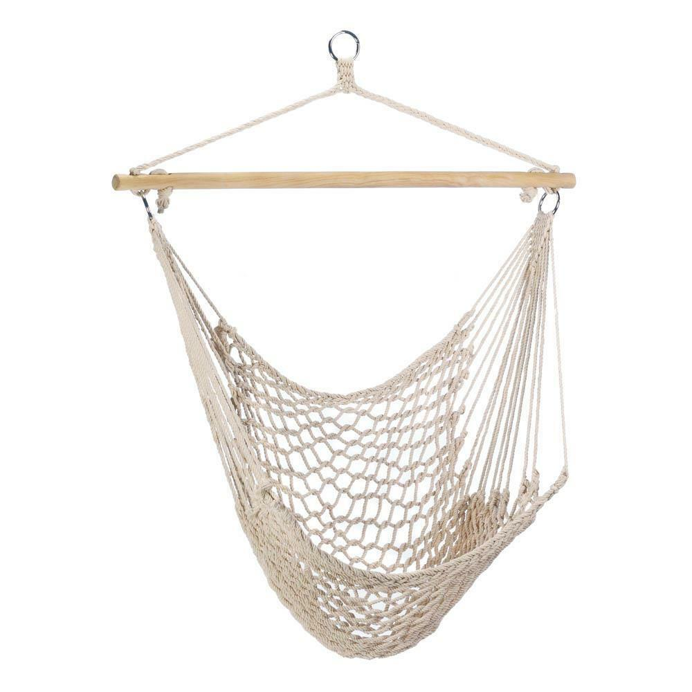 Hammock Chair Hanging White Cotton Gift Home Decor NEW #35330