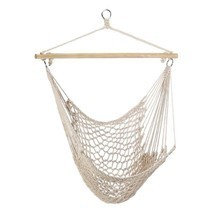 Hammock Chair Hanging White Cotton Gift Home Decor NEW #35330 - $27.26