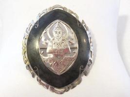 SIAM antique vintage sterling silver enamel brooch - $45.00