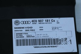 07 Audi A8 Kessy Keyless Entry Lock Control Module 4e0907181 CX 5wk47020 image 2
