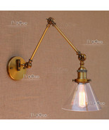 Antique Brass Library Sconce Swing Arm Rotary Wall Lamp Home Lighting Fi... - $135.20
