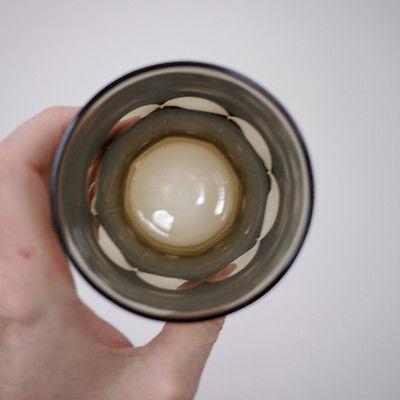 "Pair 2 Libbey Crisa Gibraltar Boston Smokey Brown Amber Juice Tumbler Glasses 4"""