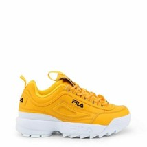 Fila Women's Disruptor 2 Premium Sneakers  Yellow Low Top Lace Up Traine... - $127.99